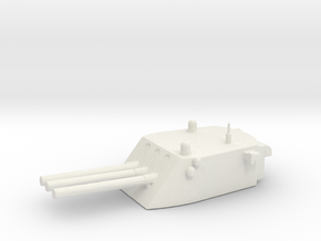 1/500 Scale 6 In 47 Cal Triple Gun in White Natural Versatile Plastic
