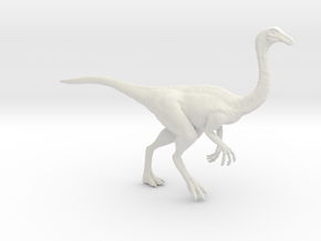 Gallimimus Pose 01 1/40th scale - DeCoster in White Strong & Flexible: 1:40
