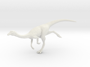 Gallimimus Pose 03 1/40th scale - DeCoster in White Strong & Flexible: 1:40