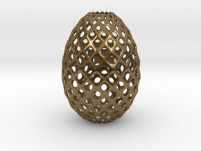 Egg Round in Natural Bronze