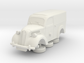 1-87 Ford Anglia E494a Van in White Natural Versatile Plastic