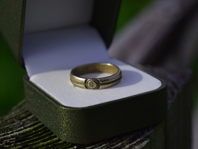 Poké Ball Ring in Polished Bronzed Silver Steel: 10.25 / 62.125