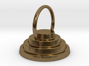Devo Hat 15mm Ring Above in Polished Bronze