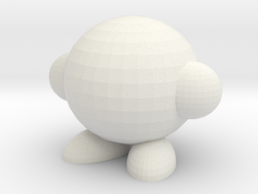 Make Your Own Kirby in White Natural Versatile Plastic