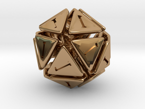The D20 of Fail in Polished Brass