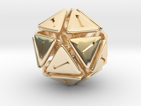 The D20 of Fail in 14K Yellow Gold