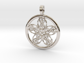 EARTH STAR in Rhodium Plated