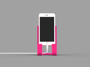 Iphone 6 plus Smartphone cradle in Pink Strong & Flexible Polished