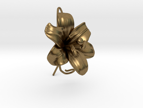 AirCharm Lily Flower - Left in Natural Bronze