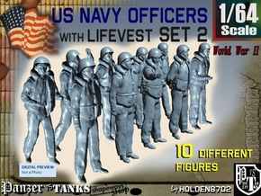 1-64 USN Officers KAPOK Set2 in Smooth Fine Detail Plastic