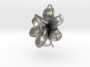 AirCharm Lily Flower - Right in Natural Silver