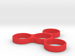 TRIPLE SPINNER EDC FIDGET in Red Processed Versatile Plastic