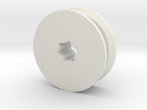 Hobby Winch Pulley in White Natural Versatile Plastic