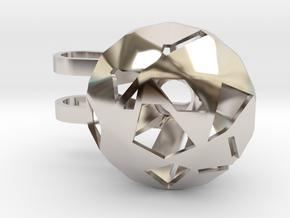 Diamond Phone Lamp - M in Rhodium Plated Brass