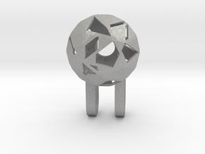Tiny Phone Lamp - Diamond - S in Aluminum