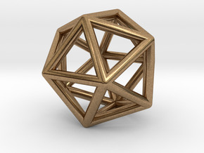Geometry Pendant in Natural Brass