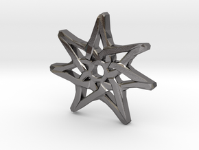 7-Pointed Knotwork Faery Star in Polished Nickel Steel