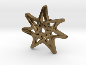 7-Pointed Knotwork Faery Star in Natural Bronze