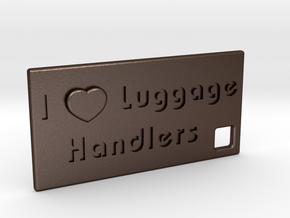 I Heart Luggage Handlers in Matte Bronze Steel