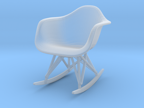 Miniature Eames Molded Shell Armchair Rocker Base in Smooth Fine Detail Plastic: 1:24