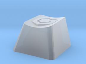 Gamecube Cherry MX Keycap in Smooth Fine Detail Plastic