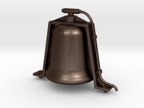 1.6 Scale Bell for Live Steam in Matte Bronze Steel
