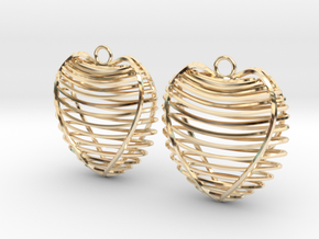 Heart cage in 14K Yellow Gold