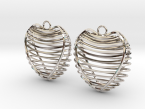 Heart cage in Rhodium Plated Brass