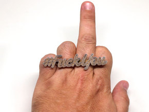 #FuckYou Statement Ring in Stainless Steel: 7.5 / 55.5