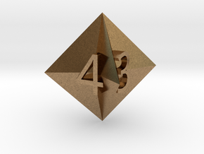 d4 Concave Octahedron in Natural Brass