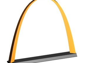 "Inverted Weighted Catenary Arch 3"" in White Natural Versatile Plastic"