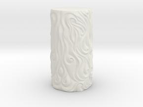 Ornate Cup in White Natural Versatile Plastic