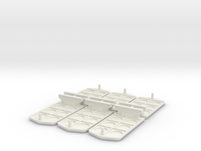 Boat miniatures for Container board game in White Strong & Flexible