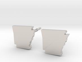 Arkansas State Earrings, post style in Platinum