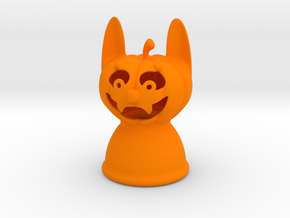 Werewolf Pumpkin Halloween in Orange Processed Versatile Plastic