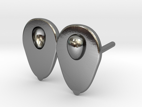 Avocado earrings for the food lover in Polished Silver
