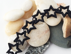 Star Necklace in Black Natural Versatile Plastic