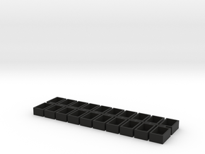 5x8x12 20 Pack Speaker Box Closed in Black Natural Versatile Plastic