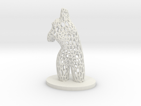 Dancer Torso 02 Voronoi Style in White Natural Versatile Plastic