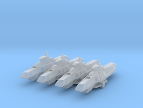 Araan Dynasty Frigate 4 Pack in Smooth Fine Detail Plastic