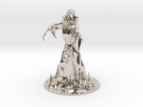 Mind Flayer Miniature in Rhodium Plated Brass: 1:60.96
