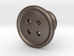 Button Tuxedo Stud in Stainless Steel