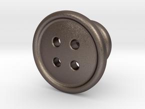 Button Tuxedo Stud in Stainless Steel