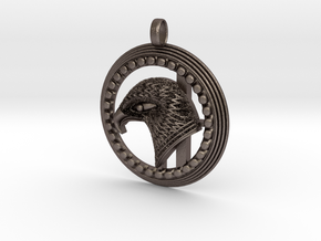 Eagle . The Thunder Bird. in Polished Bronzed Silver Steel