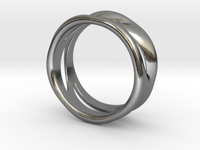 Wave Ring in Polished Silver: 7 / 54