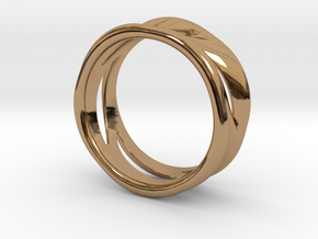Wave Ring in Polished Brass: 7 / 54