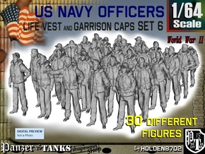 1-64 USN Officers KAPOK Set6 in Smooth Fine Detail Plastic