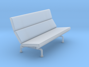 Miniature Eames Compact Sofa - Charles & Ray Eames in Smooth Fine Detail Plastic: 1:48