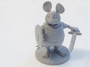Mouse Warrior - Small Scale in Metallic Plastic