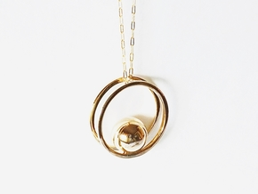 Balance Pendant - Minimalist Necklace in Polished Bronze